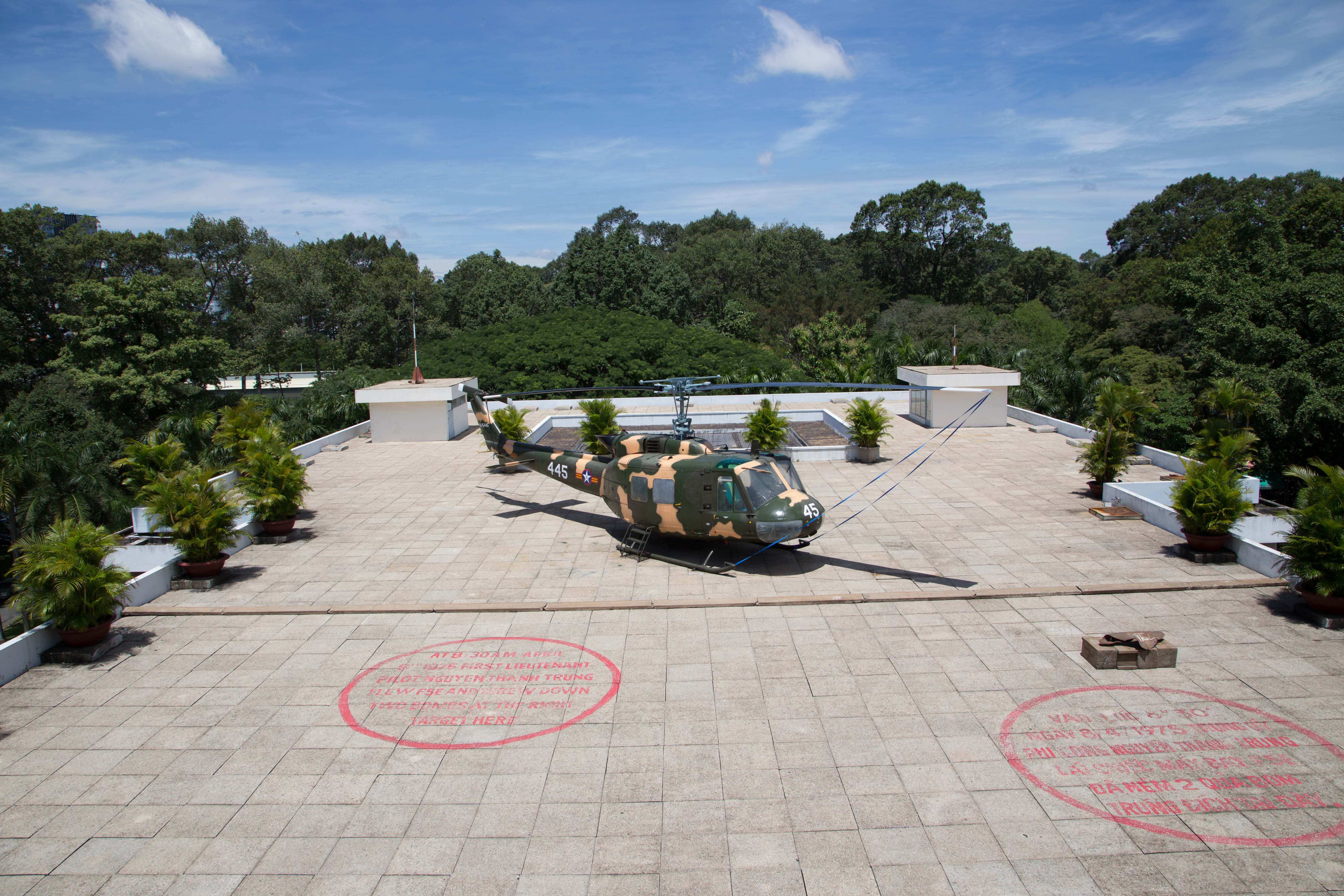 Visit the place where the last helicopter taking off from Saigon