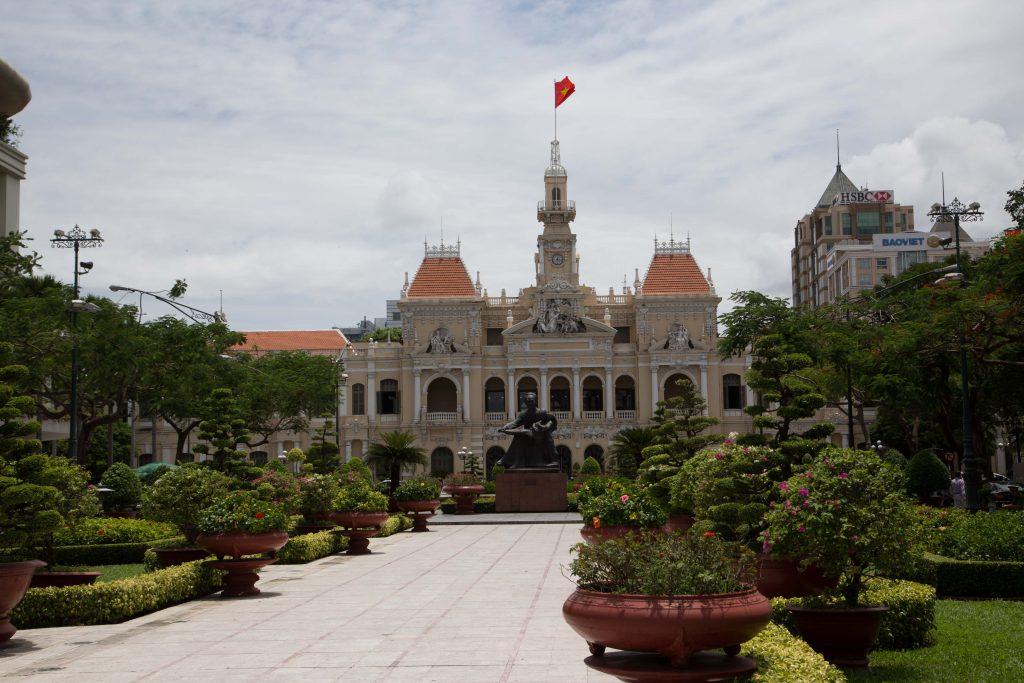 Visit Ho Chi Minh Statue on Nguyen Hue Street on a city tour