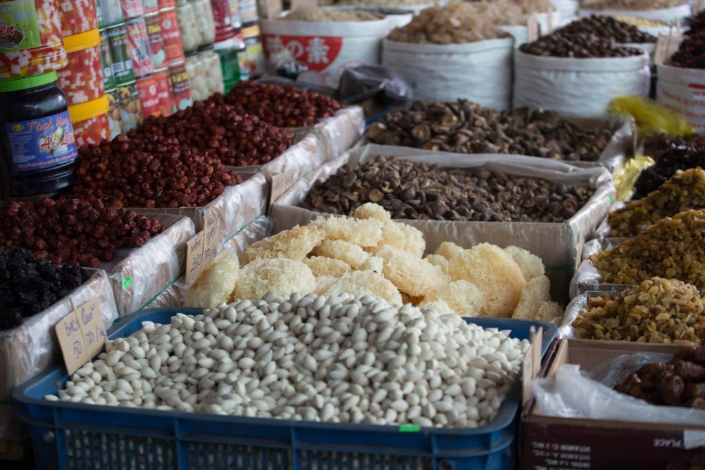 A corner of local market in Ho Chi Minh