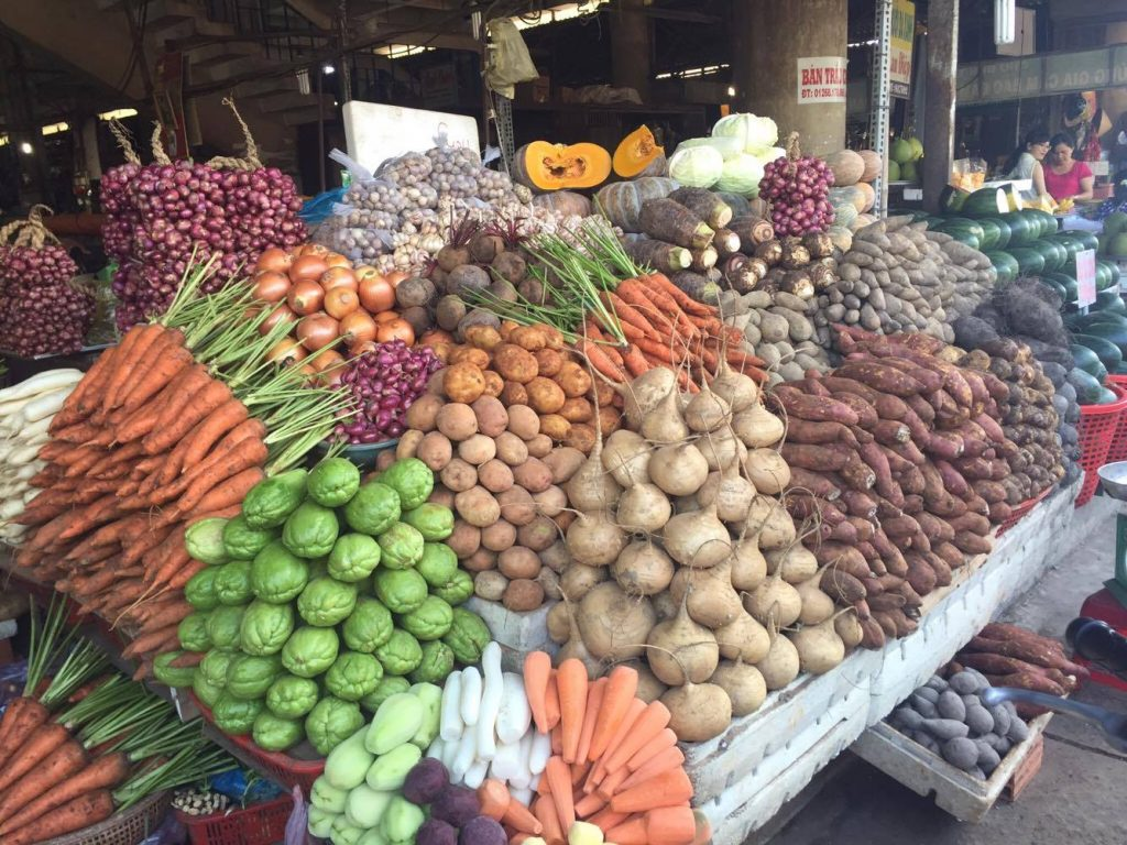 How fruits are sold at a local market
