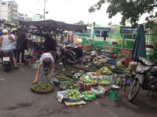 A typical street market in Saigon