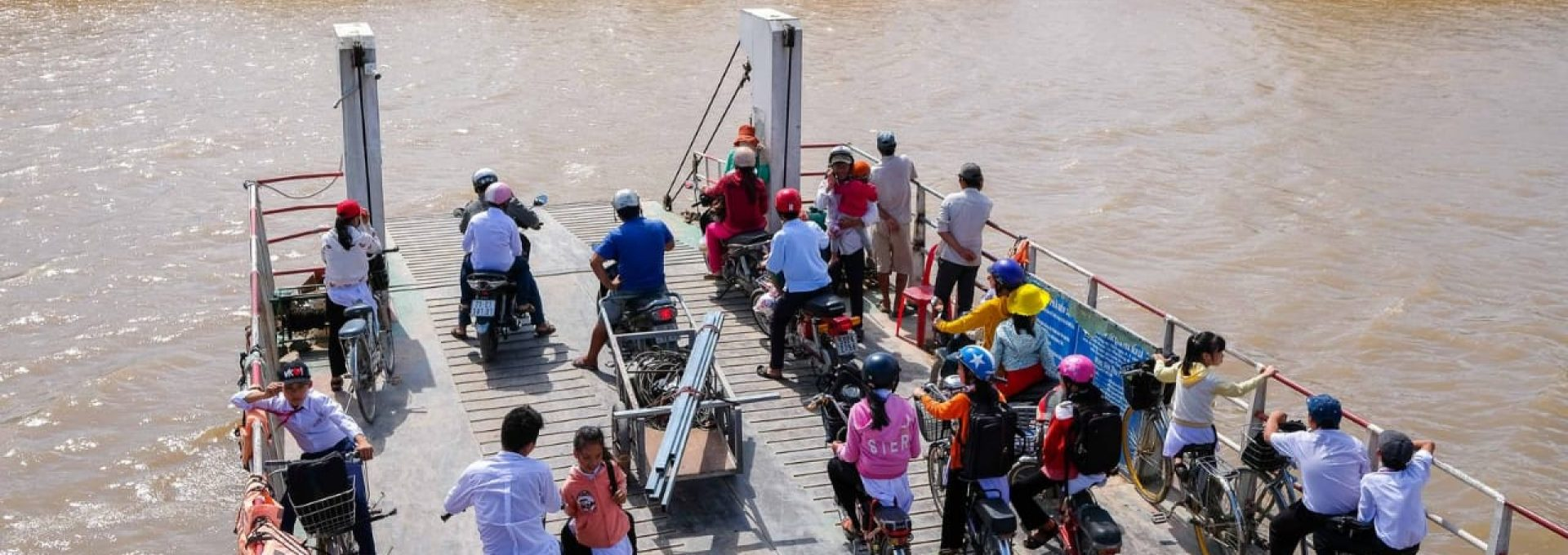 Get to see how students in Mekong go to school